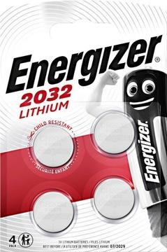 Батарейка литиевая Energizer CR 2032 3В блистер 4шт доставка товаров из Польши и Allegro на русском