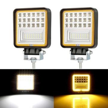 Zestaw 2 x Halogen lampa robocza LED 126W 9 32V