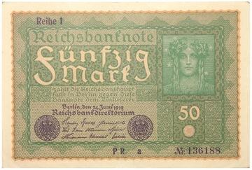 Германия - КУПЮРА - 50 Марок 1919 - Ro: 62 доставка товаров из Польши и Allegro на русском