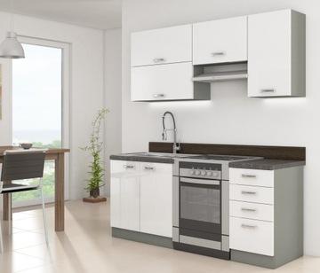 Кухонная мебель кухонные шкафы белый глянец Бланка доставка товаров из Польши и Allegro на русском
