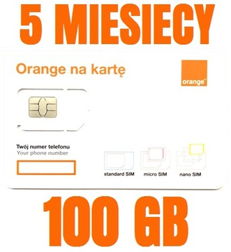 (STARTER INTERNET ORANGE FREE 100 ГБ) доставка товаров из Польши и Allegro на русском