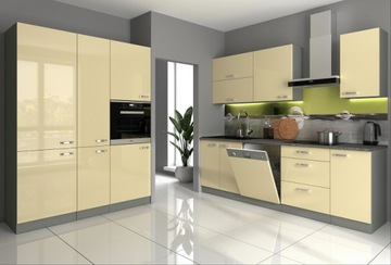 Кухонная мебель Дарина крем глянец / графит зам кондиционер. доставка товаров из Польши и Allegro на русском