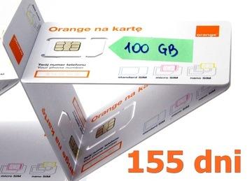 Интернет на карту ORANGE 100 ГБ на 5 месяцев! доставка товаров из Польши и Allegro на русском