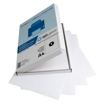 Бумага самоклеющаяся белая матовая А4 100 листов доставка товаров из Польши и Allegro на русском