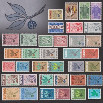 EUROPA CEPT Цветущий Бутон Комплект 19 Серии**1965 доставка товаров из Польши и Allegro на русском