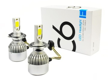 Набор LED COB H7 C6 72W 7600 лм лампы ДЕНЬ/НОЧЬ доставка товаров из Польши и Allegro на русском