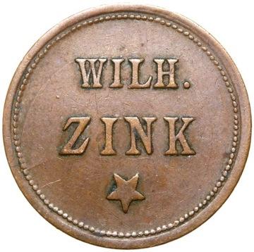 ЖЕТОН ПИВНОЙ - WILH. ZINK - GUT FUR EIN GLAS BIER доставка товаров из Польши и Allegro на русском