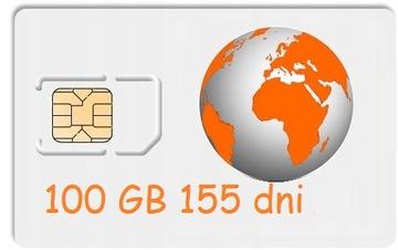 100 ГБ Интернет на карту ORANGE Free 155 дней, LTE доставка товаров из Польши и Allegro на русском