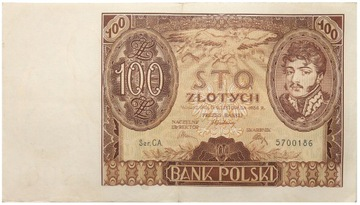 Польша - II RP - БАНКНОТА - 100 Злотых 1934 доставка товаров из Польши и Allegro на русском