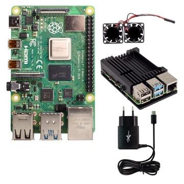 Набор Raspberry Pi 4 8GB большие активного охлаждения доставка товаров из Польши и Allegro на русском