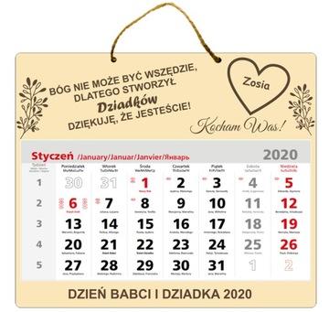 ПОДАРОК на день БАБУШКИ ДЕДУШКИ КАЛЕНДАРЬ 2020 доставка товаров из Польши и Allegro на русском