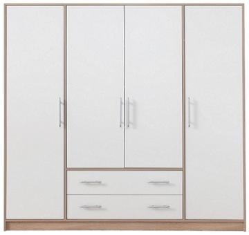 БОЛЬШОЙ четырех-дверный Шкаф гардероб белый 200см доставка товаров из Польши и Allegro на русском