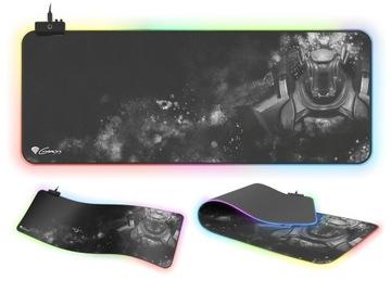 Игровой коврик для мыши со светодиодной подсветкой RGB  доставка товаров из Польши и Allegro на русском