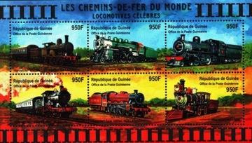 Гвинея.Мне 3103-08, bl. 649 ** История железных дорог доставка товаров из Польши и Allegro на русском