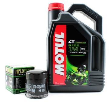 Моторное масло MOTUL 5100 10W40 4L +масляный фильтр HF доставка товаров из Польши и Allegro на русском