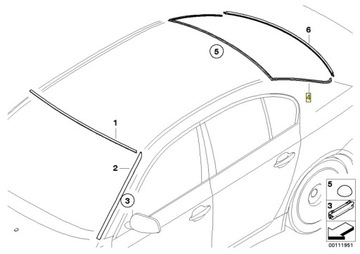 BMW Прокладка стекла задн. верхняя E60 доставка товаров из Польши и Allegro на русском