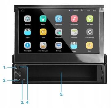 РАДИО ЭКРАН 7' 1 DIN ANDROID 8.1 КАМЕРА GPS USB доставка товаров из Польши и Allegro на русском