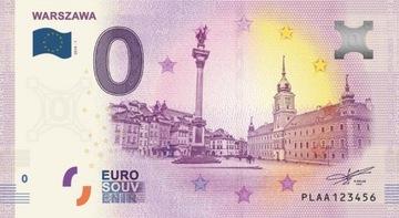 Банкноты 0 Евро - Варшава - 2019 - Пленка Бесплатно!!! доставка товаров из Польши и Allegro на русском