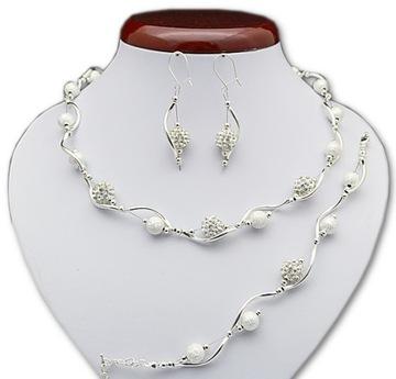 Cyrkonie Ślubny Komplet biżuterii biżuteria ślubna