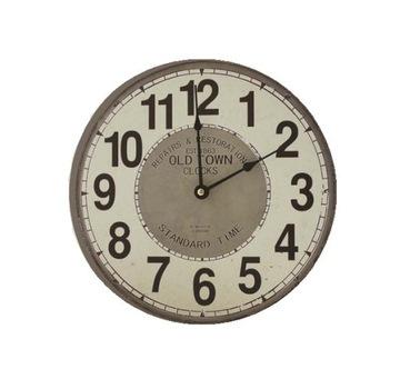 Czytelny zegar ścienny vintage 30cm retro cichy