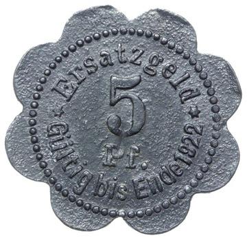 + Stettin - Щецин - NOTGELD - 5 Pfennig 1920 доставка товаров из Польши и Allegro на русском