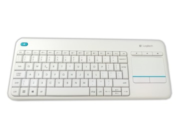 НОВАЯ клавиатура +сенсорная панель LOGITECH K400 Plus Белая доставка товаров из Польши и Allegro на русском