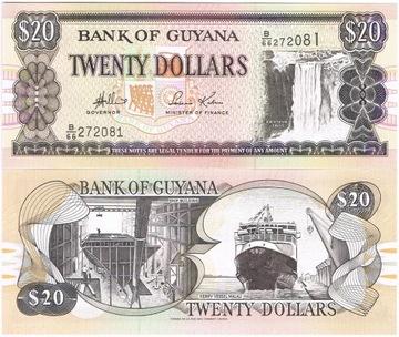 Гайана 20 долларов P-24, UNC доставка товаров из Польши и Allegro на русском