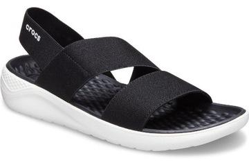Crocs LiteRide Стрейч 206081-066 W8 38-39 сандалии доставка товаров из Польши и Allegro на русском