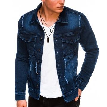Мужская куртка джинсовая переходная C404 джинсы M доставка товаров из Польши и Allegro на русском