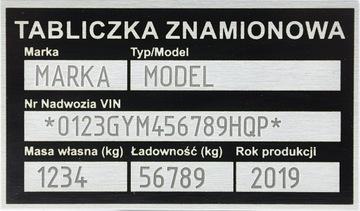 Табличка сменная прицеп выпущена доставка товаров из Польши и Allegro на русском