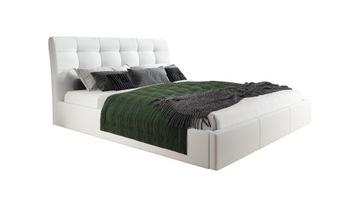 Кровать с обивкой из ПОРТО-160х200 каркас + бак доставка товаров из Польши и Allegro на русском