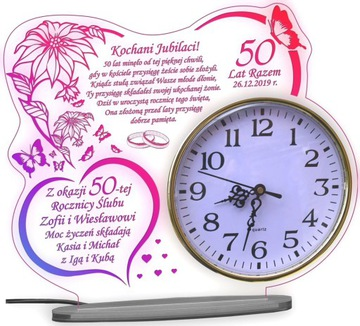 40 50 ГОДОВЩИНА СВАДЬБЫ СТАТУЭТКА XXXL ПОДАРОК ЧАСЫ доставка товаров из Польши и Allegro на русском