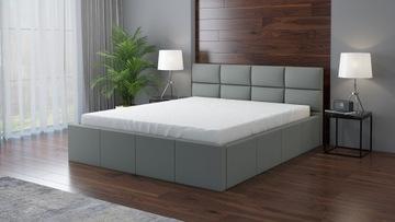 кровать RADO мягкая каркас + матрас 140х200 доставка товаров из Польши и Allegro на русском