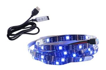 СВЕТОДИОДНАЯ лента RGB USB 5V подсветка тюнинг ПК 0.5 м доставка товаров из Польши и Allegro на русском