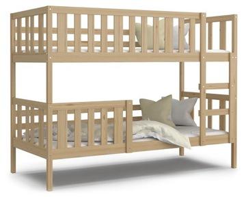 Łóżko piętrowe NEMO sosna i materace