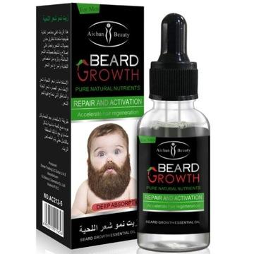 Beard Growth масло препарат для роста бороды доставка товаров из Польши и Allegro на русском