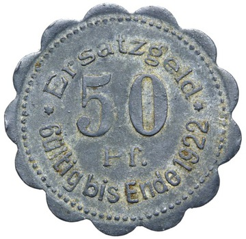 (+ Stettin - Щецин - 50 Pfennig 1920 - цинк) доставка товаров из Польши и Allegro на русском