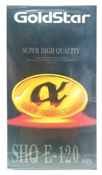 ВИНТАЖ GoldStar ZAFOLIOWANA КАССЕТА VHS SHQ E120 доставка товаров из Польши и Allegro на русском
