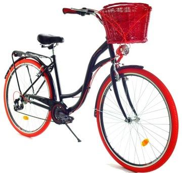 Rower damski miejski DALLAS 26 28 damka 7 biegów