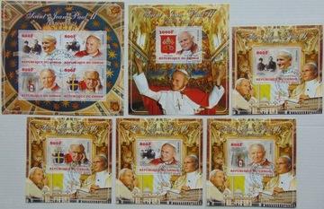 Папа римский Иоанн Павел II Конго листов.+5 блоков #28130a-f доставка товаров из Польши и Allegro на русском