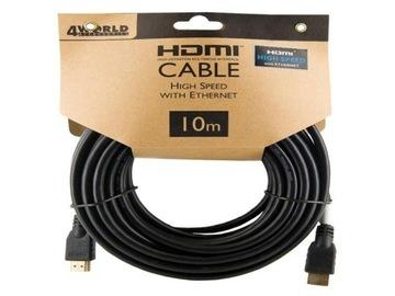 ДЛИННЫЙ Кабель HDMI - HDMI 10м 4K 4K2K 3D HIGH SPEED доставка товаров из Польши и Allegro на русском