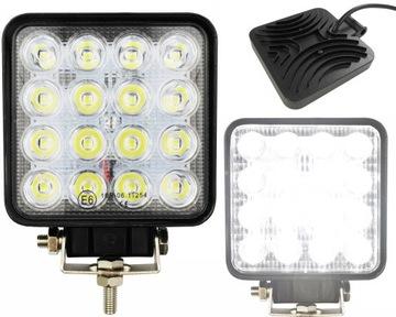 Лампа 16 LED галоген рабочий прожектор 48W 12V 24V доставка товаров из Польши и Allegro на русском