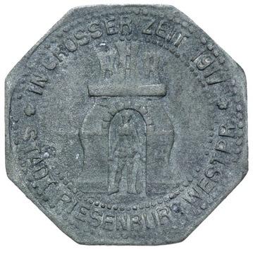+ Riesenburg - Прабуты - 5 Pfennig 1917 - цинк доставка товаров из Польши и Allegro на русском
