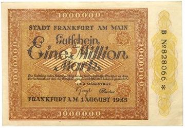 Германия - Франкфурт - на- КУПЮРА - 1 Миллион Марок 1923 доставка товаров из Польши и Allegro на русском