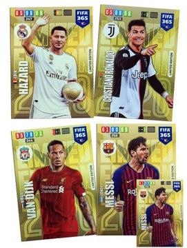 4 карты XXL Limited Месси Роналду FIFA 365 2020 доставка товаров из Польши и Allegro на русском