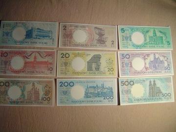 MIASTA POLSKIE zestaw 9 banknotów - 1990 rok доставка товаров из Польши и Allegro на русском
