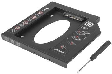 Карман на второй жесткий диск HDD SSD 7мм вместо CD DVD доставка товаров из Польши и Allegro на русском