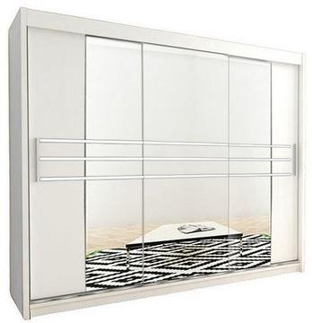 Шкаф-купе гардероб РИКА 2 - 250 см с зеркалом доставка товаров из Польши и Allegro на русском