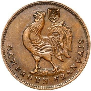 (Камерун Французский 1 Франк 1943 - ПЕТУХ БЕЗ LIBRE) доставка товаров из Польши и Allegro на русском