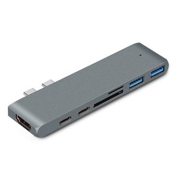 Adapter 7w1 HUB USB-C HDMI 4K SD Macbook Pro / Air доставка товаров из Польши и Allegro на русском